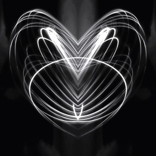 Playing with light 3 Canon Eos 200d Morten Müller-Schnelle Creative Photography Art Black And White Blackandwhite Photography Black & White Blackandwhite LED Light Heart Heart ❤ Illuminated Glowing Night Creativity Black Background Motion Heart Shape Light Painting Symmetry Shape Blurred Motion