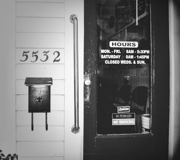 Blackandwhite Number_bnw_friday Small Town USA
