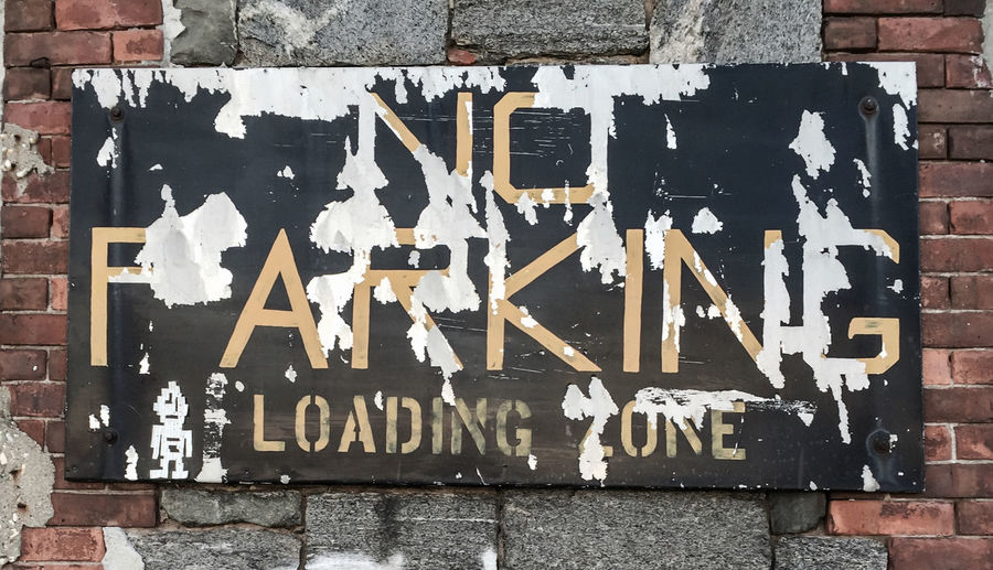 No Parking Loading Zone Sign Redhook NYC Brooklyn Summer2015 Streetphotography Saturday Art
