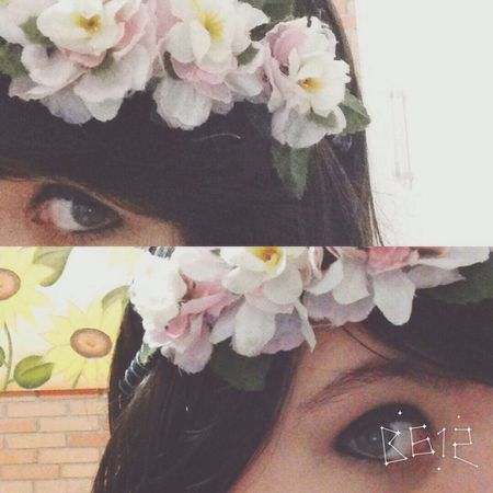 Eyes Cute Girl Flower Brazzang