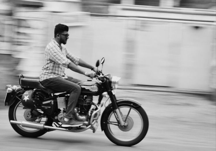 Snap A Stranger cruising on a Royal Enfield... The unknown.... Motorcycle Men Hunk Machoman The Street Photographer - 2016 EyeEm Awards Strangers In Transit Motion Freeze