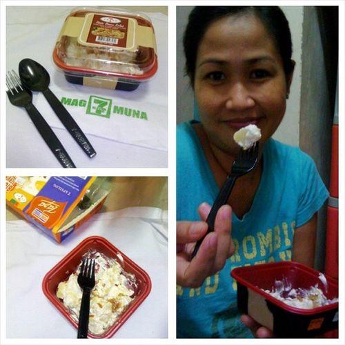 Pati si mama nag enjoy sa dala kong foods :) Potatobaconsalad Foodtrip Mytreat