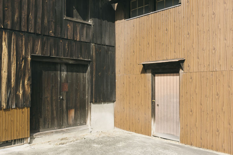 No People Day Architecture Built Structure Building Exterior Wood - Material Building Entrance Door Outdoors Sunlight City House Closed Nature Empty Window Old Hut Abandoned Garage