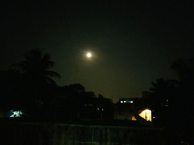 Oneplusthree Funphotography Supermoon2016 Frommywindow Sillhouette Nightfalling