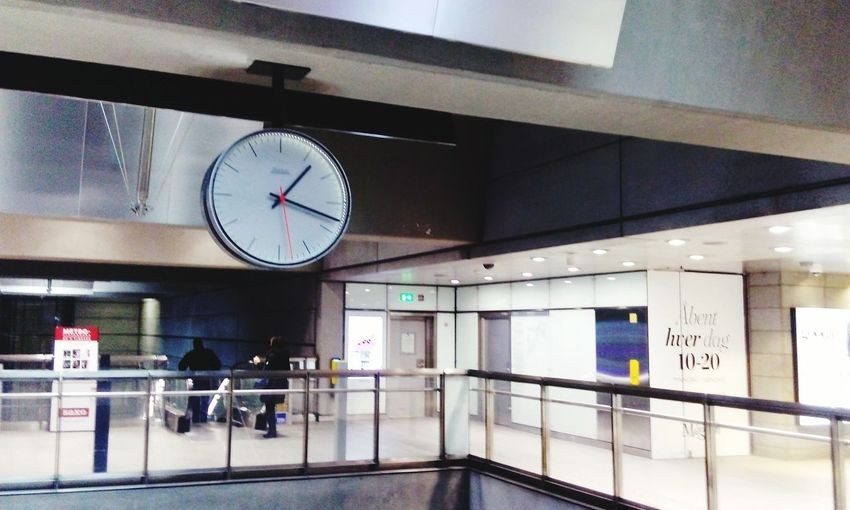 Time Clock Indoors  Railroad Station No People Illuminated Clock Face Architecture Minute Hand Day Metro Metro Station Metro Copenhagen City Travel Destinations Escaping Kopenhaven Desing Loft Style