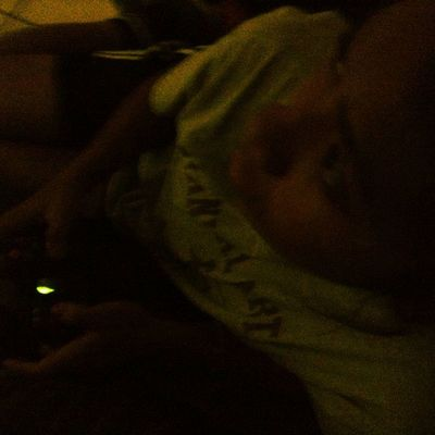 She stays playing zombies :) lol