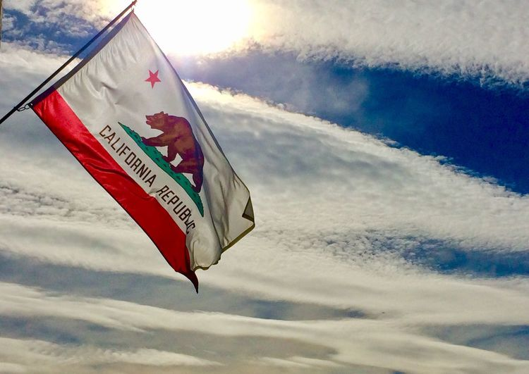 Go Bears! Cloud - Sky California Low Angle View Sky Flag Patriotism Pride California Love California Bear Bear California Coast USA Santa Barbara, CA Route 1