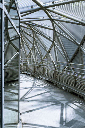 Construction Modern Architecture Shadows & Lights Architecture Built Structure City Close-up Day Full Frame Indoors  Modern No People Silver Colored Steel Steel And Glass Triangle And Circles And Lines Triangle Shape