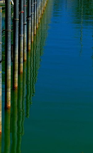 Abstract Abstract Photography Blue Harbour View Lake Water Lake Reflection Green Color