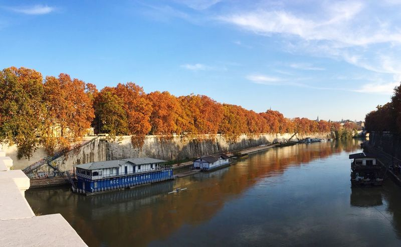 Roma, autunno 2016 Roma Rome Autumn Autumn Colors Tree Riverside River Tevere Beuty Of Nature Water Nature Sky Reflection Scenics Beauty In Nature Built Structure No People Tranquility Outdoors Day Architecture The City Light