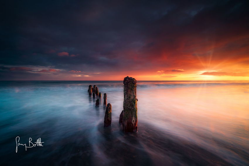 Sunrise at Sandsend . Horizon Over Water Sea Tranquil Scene Landscape Tranquility Long Exposure Beach Water Dawn Of A New Day Clouds And Sky Landscape_Collection Sony A6500 Seascape Landscape_photography Sony Images North Yorksire EyeEm Best Shots - Landscape Sonyalpha Sunrise_Collection Water_collection