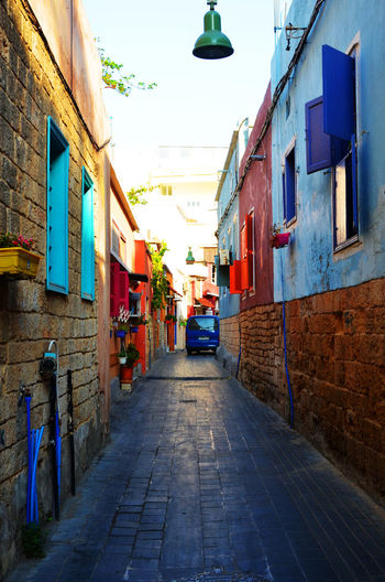 Architecture Blue Cobblestone Colorful Landscape Lebanon Long Road Narrow Road Narrow Street No People Old Architecture Old Buildings Old House Old Street Old Town Old Windows Pheonicians Red Ruins Shades Of Blue Shades Of Bluegreen Stones Streetphotography Tyre