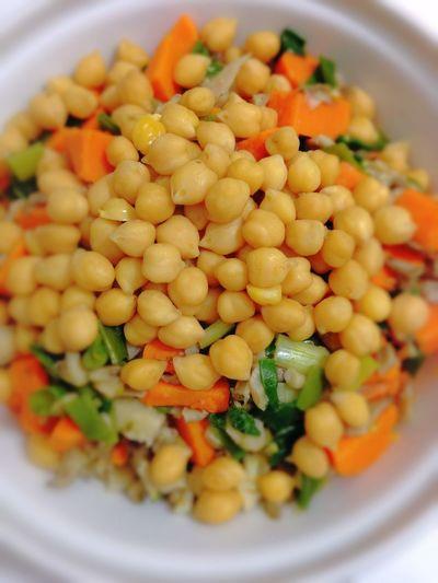 Chickpeas Sweet Potatoes Green Onion Depht Of Field Healthy Food Vegan Food Vegetarian Food Vegetables POV 365 Photos In 2015