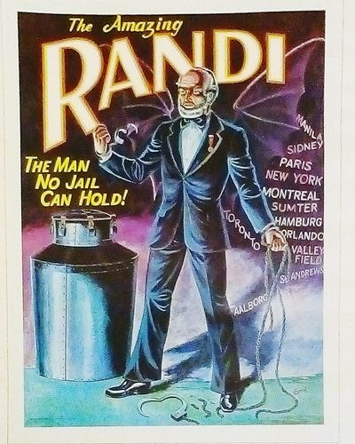 The Amazing Randi Escapeartist Old Posters Old Poster Oldposters Oldposter RandI Escape Artist The Man No Jail Can Hold Escapees Escapology Escape Posters Poster Collection Poster Postercollection Posterporn Amazing Color Posters Advertising Poster Escapee Escapologist Escapologists Amazing. Illusionist
