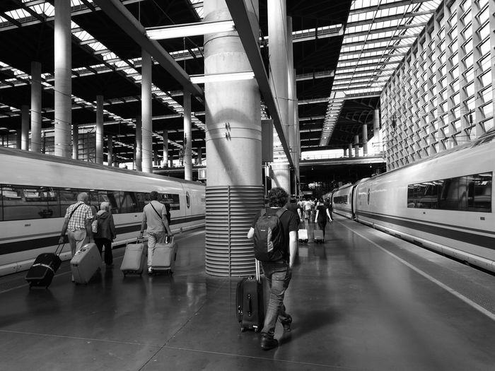 Train Station Rail Transportation Indoors  People Architecture Adult Only Men Adults Only Day Atocha