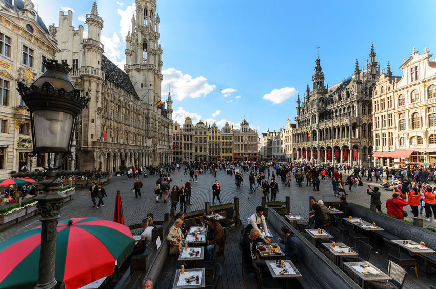 The Grand Place, Brussels Belgium Brussels European Town Square Grand Place Grote Markt Nikon 10-24 Square The Grand Place Architecture Building Exterior Built Structure Crowd European Town Square Grandplace Grandplacebrussels Group Of People Large Group Of People Tourism Town Square Travel Destinations Ultrawideangle