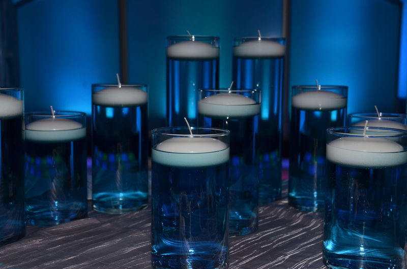 Blue Shades Of Blue Glass Glass Candles Blue Uplighting Candlelight Candles Candlelights Candle Lighting