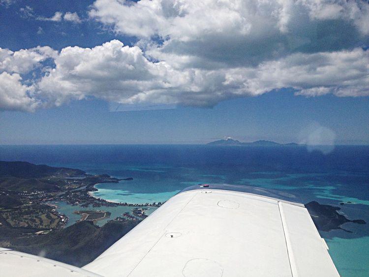 From An Airplane Window Island Hopping