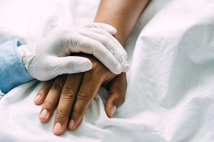 Doctor encouraging patient