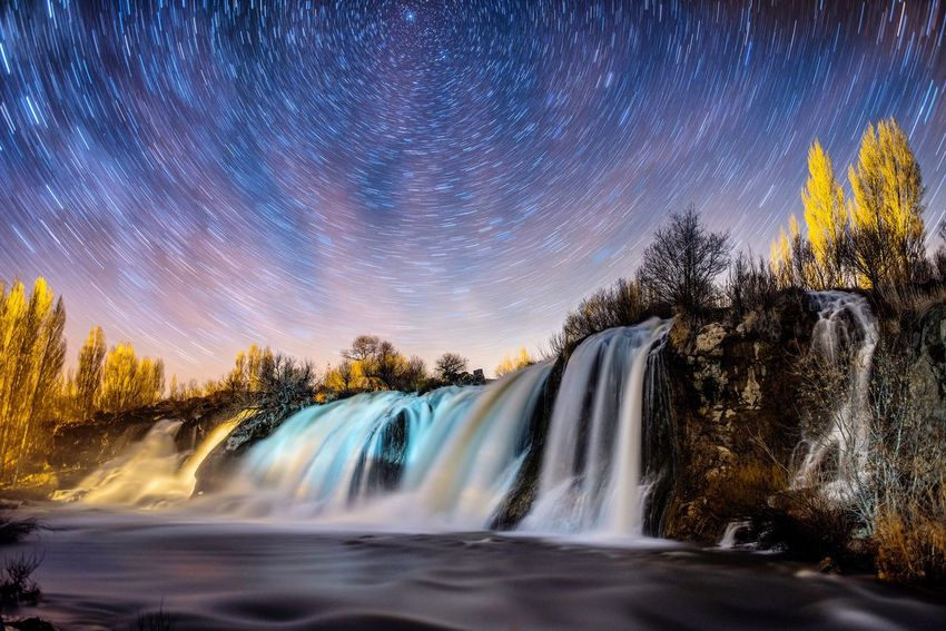 Muradiye şelalesi Sky Scenics - Nature Night Star - Space Astronomy Nature 10 No People Illuminated Star Field Galaxy Plant Architecture Motion Long Exposure Water Beauty In Nature Tree Space And Astronomy Space Outdoors The Photojournalist - 2018 EyeEm Awards The Great Outdoors - 2018 EyeEm Awards The Still Life Photographer - 2018 EyeEm Awards The Traveler - 2018 EyeEm Awards Summer Sports HUAWEI Photo Award: After Dark