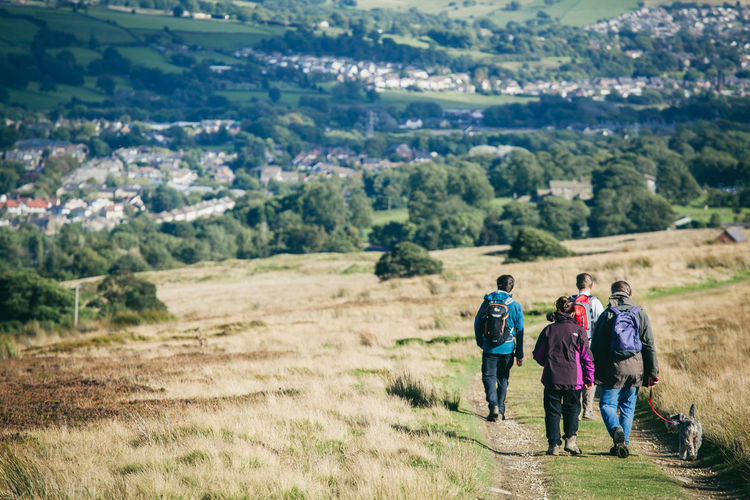 Activity Country Countryside Day Out Dog Walking England Exercise Fitness Fresh Air Healthy Hiking Hills Landscape Moors Nature Otley Outdoors Path People Rambling Trail View Walkers Walking Yorkshire