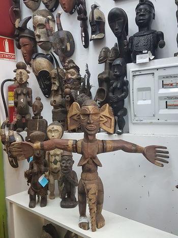 Etnography En Bois African Camerun Wood Sculpture Sculpted Art