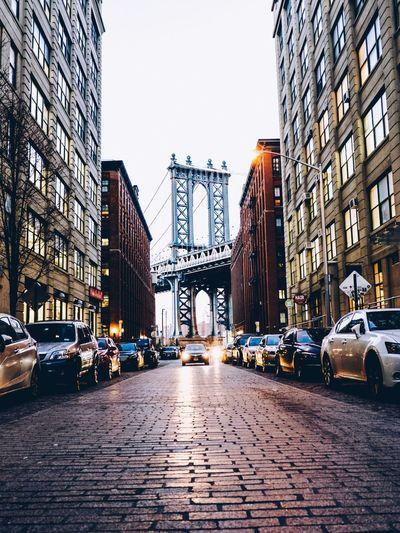 Battle Of The Cities New York DUMBO City Brooklyn Bridge / New York EyeEm Best Shots EyeEm Gallery EyeEm EyeEm Best Edits EyeEmBestPics Eyeemphotography Capture The Moment Architecture City