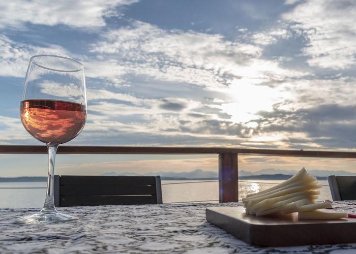 Rosé wine on