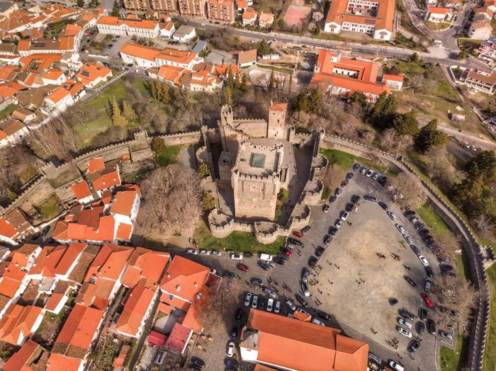 The wall of Bragança's castle Drone Photograph DJI Mavic Air DJI X Eyeem Architecture Built Structure Building Exterior City High Angle View Art And Craft Building Travel Destinations Aerial View Day History Nature Cityscape Tree Outdoors The Past No People Travel Plant Belief
