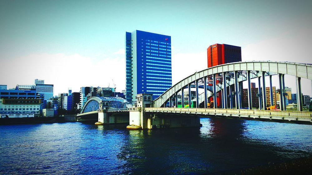Sumida River Tokyo Kachidoki Bridge River
