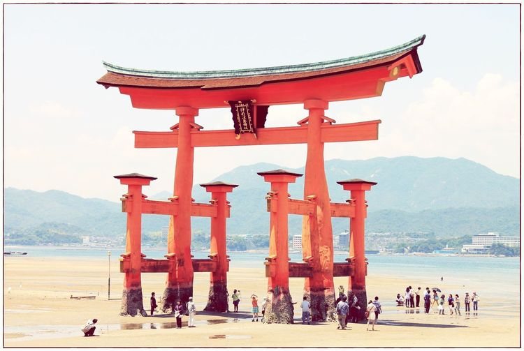Japan Travel Destinations Tourism History Religion Spirituality Nature Architecture Sky Beach Outdoors Ikutsushima Miyajima
