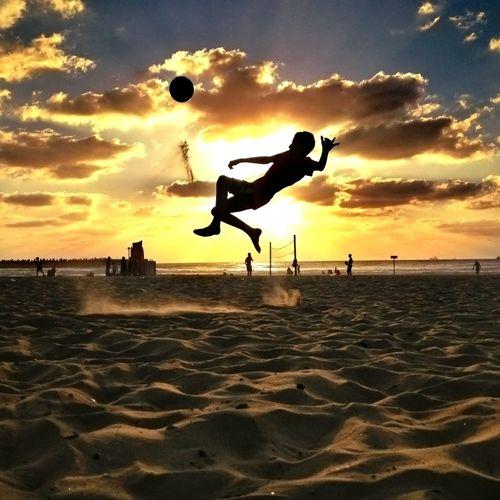 It's soccer time Ball Soccer Jump Sunset EyeEm Team