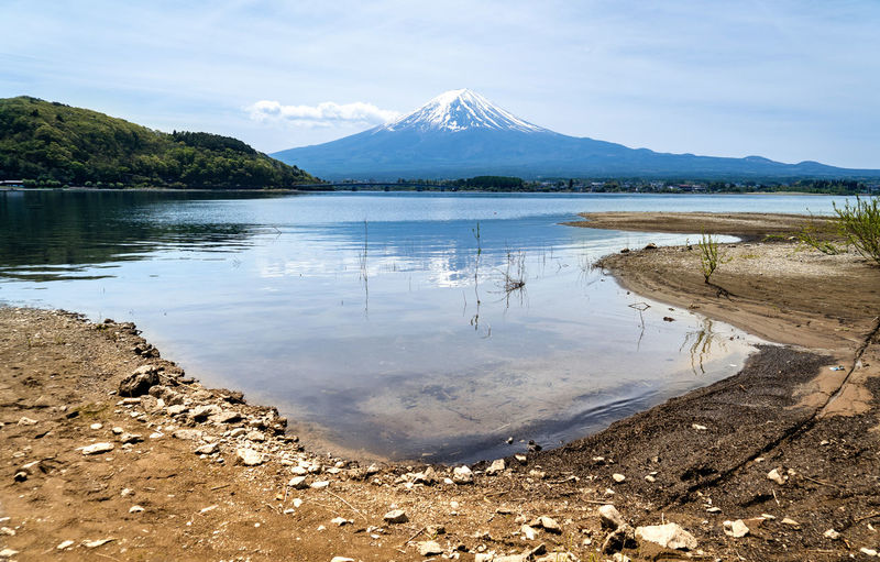Water Mountain Beauty In Nature Tranquil Scene Sky Tranquility Scenics - Nature Lake Reflection Nature Day Non-urban Scene Idyllic Cloud - Sky Winter Cold Temperature No People Outdoors Snowcapped Mountain Mountain Peak