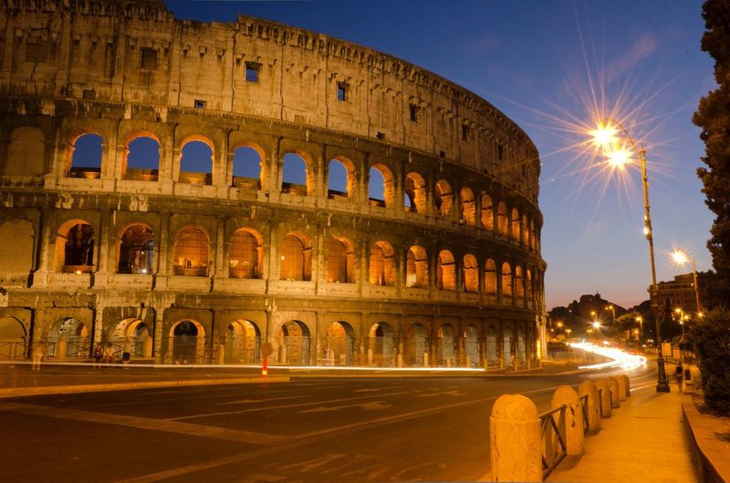 Rome wasn't built in a day Architecture Illuminated Arch Built Structure Travel Destinations Night Arts Culture And Entertainment History Building Exterior City The Past Tourism Travel Amphitheater Ancient Street Ancient Civilization