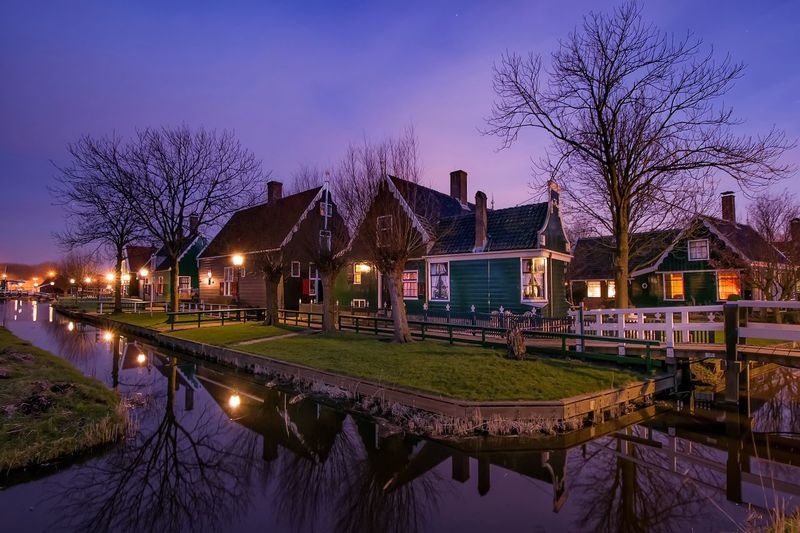 Zaanse Schans Zaandam Holland Country Life Countryside Houses Longexposure Netherlands ❤ Night Lights Zaanstad