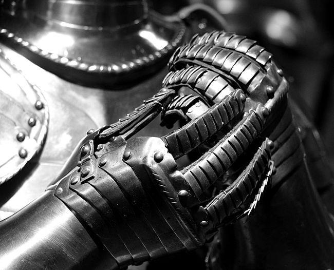 Close-Up Of Metallic Suit