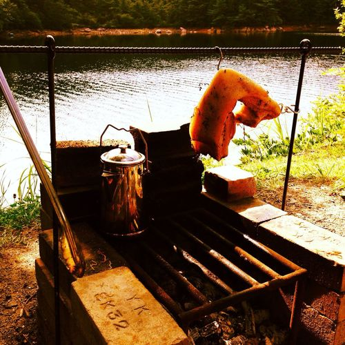 Camp Food Photography Relaxing Lake View