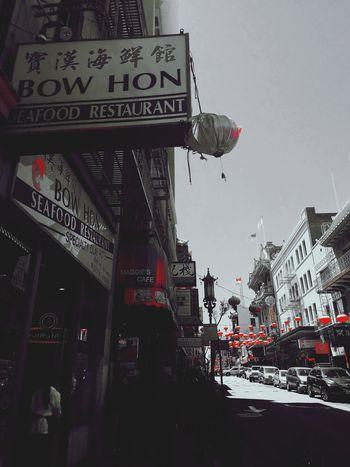 Chinatown. San Francisco, California. Black & White Red Splash Daytime Photography Bllack And White Photography Streetphotography San Francisco, California Communication Neon Sky