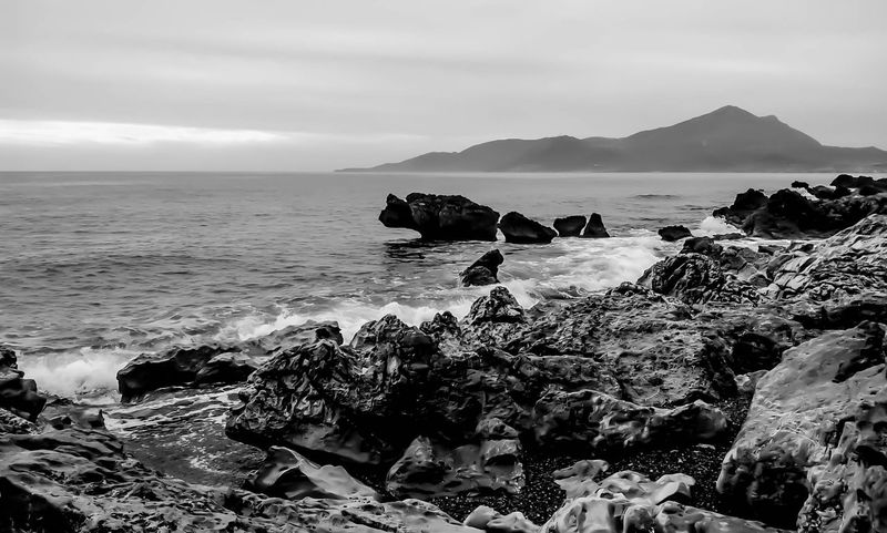 #EyeEmEsterlinda #italy Beach Beauty In Nature Black & White Blackandwhite Blackandwhite Photography Landscape Mountain Nature Nature Sea Tranquil Scene Tranquility