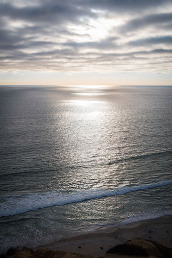 Beach Calm Cloud Cloudy Coastline Horizon Over Water Idyllic Ocean Ocean View Ocean Views Pacific Rippled Sea Seascape Shore Sky Stille Oceaan Sunset Sunsetting Sunsetting On Water The Pacific The Pacific Ocean Torrey Pines Torreypines Tranquil Scene