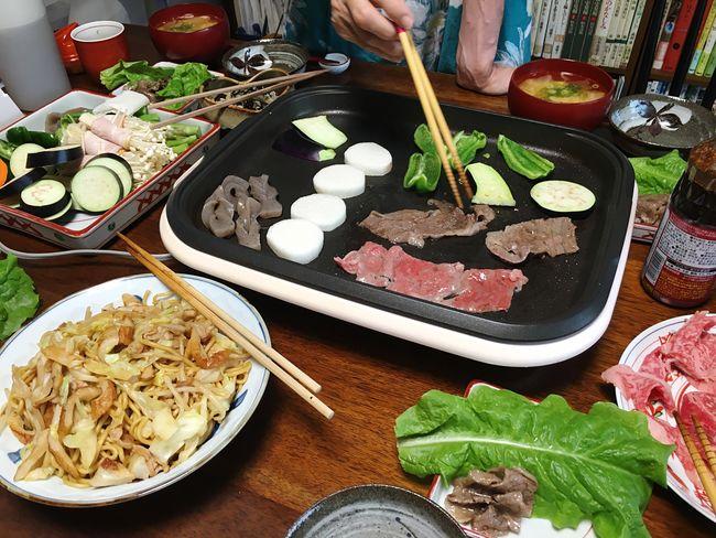 にくにくー((・ω・ = ・ω・)) Yummy Yumyum( ˙༥˙ ) Yakiniku Dinner Vegetables Taking Photos