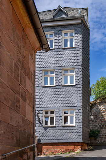 Architecture Building Exterior Built Structure Window Building No People Day Brick Residential District Nature House Outdoors Wall Low Angle View Brick Wall City Sky Wall - Building Feature Sunlight Old Stone Wall Wohnen Heute Restauration Marburg Altstadt