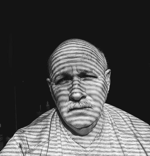 Shadows Shadows & Lights Shades Of Grey Black Background Human Face Looking At Camera Indoors  Real People Men This Is Masculinity Inner Power This Is Aging The Portraitist - 2018 EyeEm Awards