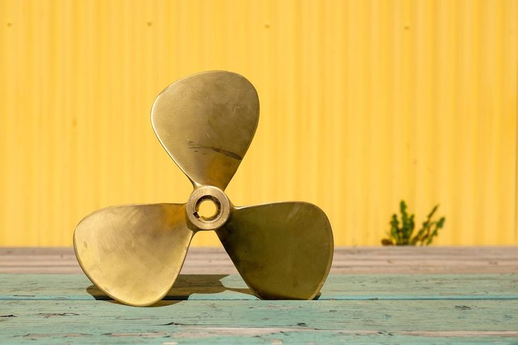 It all started with a propeller. Wall - Building Feature Yellow No People Round gold Gold Sea Man Made Object Boat Parts Surface Level Beige First Eyeem Photo