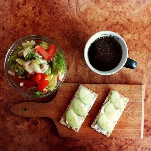 Lunch Salad Coffee Stayhealthy