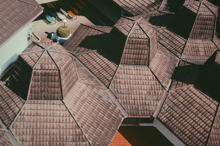 Low Angle View Of Modern Roof