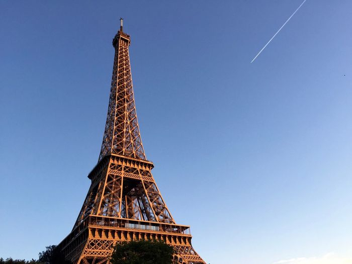 Eiffel Tower Paris Tour Eiffel Architecture Built Structure City Golden Hour Landmark Low Angle View Metal Monument Sunset Tall - High Tourism Tower Trail Travel Travel Destinations