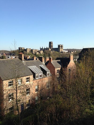 Durham Cathedral Durham City The North East County Durham Blue Sky