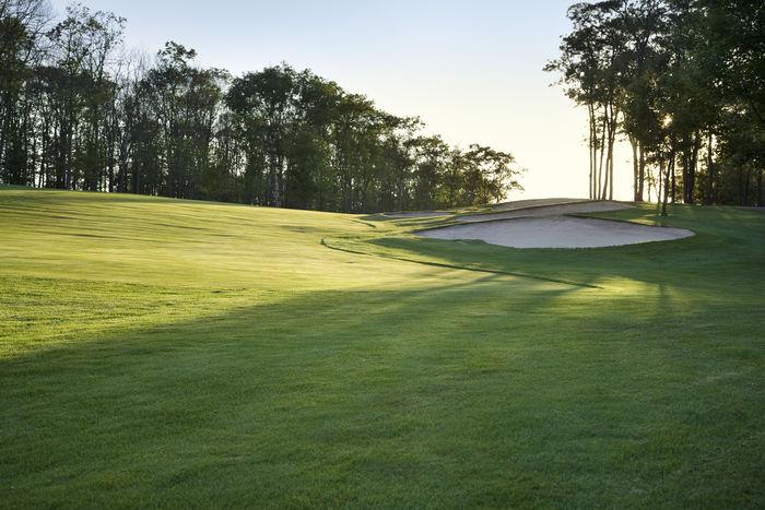 Clouds Fairway Golf Golf Course Grass Green Color Landscape Minnesota No People Sand Trap Scenic Sky Sundown Sunlight Trees USA