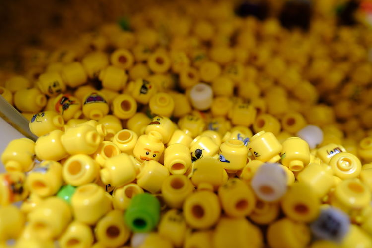Full frame shot of yellow candies